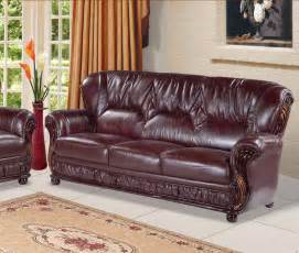 Burgundy Leather Sofa Ideas Design #16945
