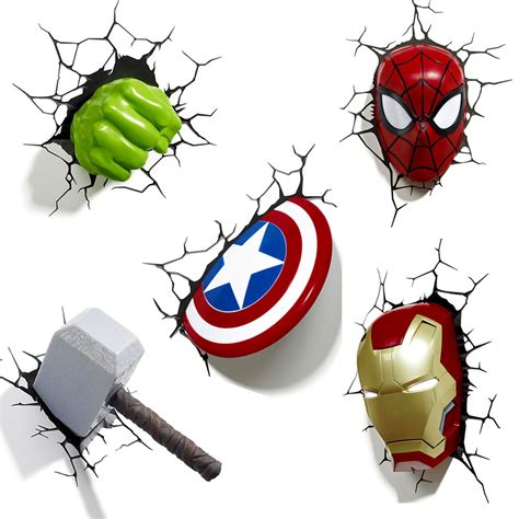 Double Bedroom Sets marvel avengers 3d wall light hulk iron man captain