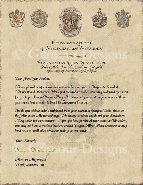 Hogwarts Acceptance Letter Etsy Harry Potter Hogwarts Acceptance Letter By Gilmourdesigns On Etsy