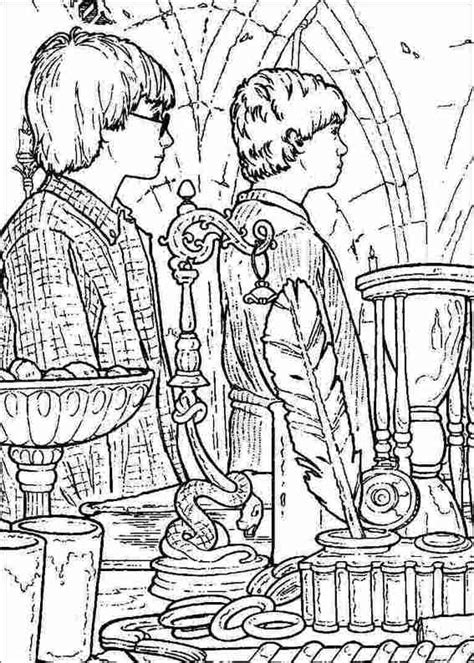 harry potter coloring book for adults grown ups harry potter 053 coloring page