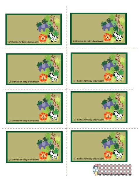 printable jungle labels free printable safari baby shower labels cliparts co