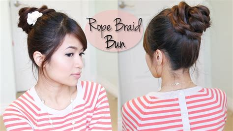 everyday hairstyles bebexo rope braid 3d flower bun updo hairstyle for medium long