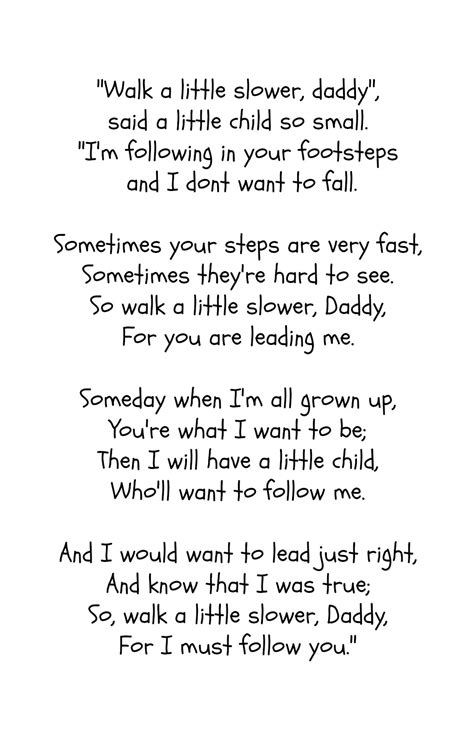 father s day poem free printable poem father and craft