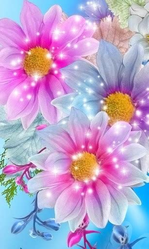 Glitter Wallpapers Of Flowers | download glitter flowers live wallpaper for android by