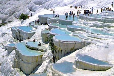 pamukkale hot springs natural rock pools pamukkale turkey facts pod