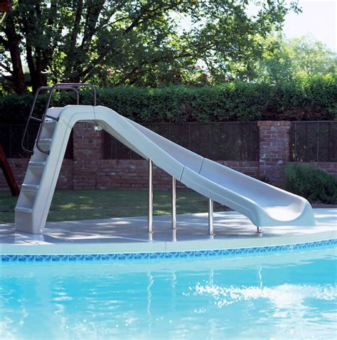 swimming pool slides white water pool slide backyard