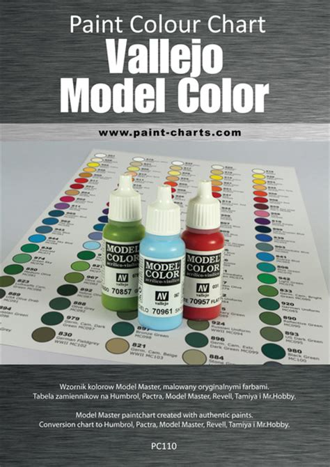 paint colour chart vallejo model color 12mm pjb pc110