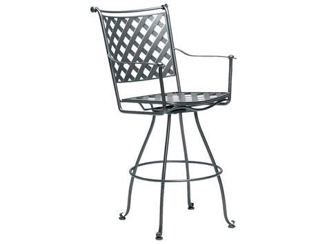 woodard maddox wrought iron swivel bar stool 7f0388