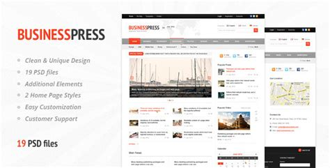 themeforest business news premium magazine psd template