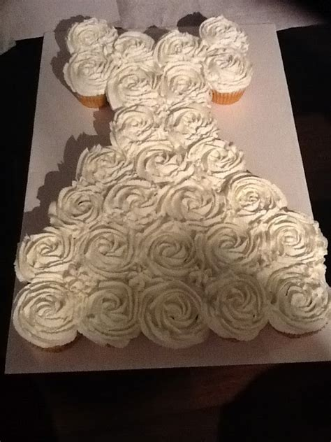 pull apart cupcake cake for bridal shower and other projects bridal shower pull apart