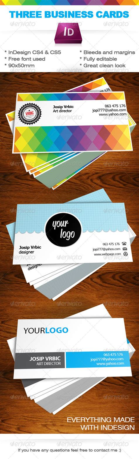 business cards indesign templates graphicriver