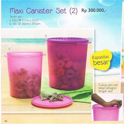 Maxi Canister 5 5l Tupperware maxi canister set tupperware promo oktober 2014