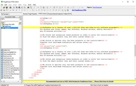 web page design html editor download pagebreeze html editor 5 0a