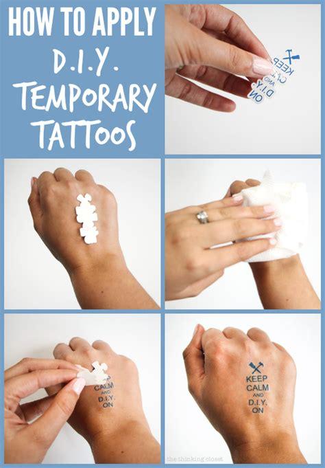 diy temporary tattoos creative business card swag  thinking closet