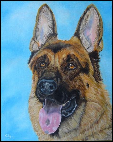 german shepherd painting art pinterest german shepherd painting german shepherds  german