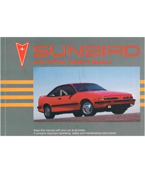 service repair manual free download 1990 pontiac sunbird auto manual 1990 pontiac sunbird owners manual