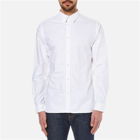 selected homme s done vince shirt white mens
