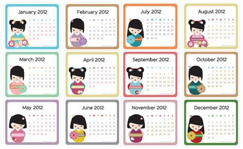 doodle crear calendario creative mamma 187 free printable kokeshi doll 2012 mini