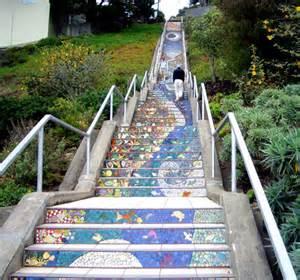 Tiled Stairs San Francisco by Moraga Street Tiled Steps Hiddensf Com