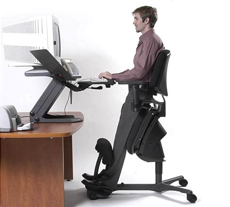 Office Chairs For Standing Desks by Stand Up Desk Chair Whitevan