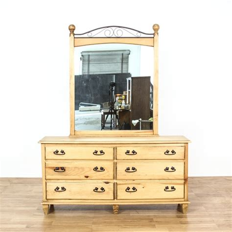 rustic pine dresser with mirror rustic pine iron dresser w mirror loveseat vintage