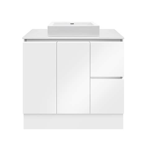 Forme Vanities Forme 900mm Colourstone White Gloss Parclane Square