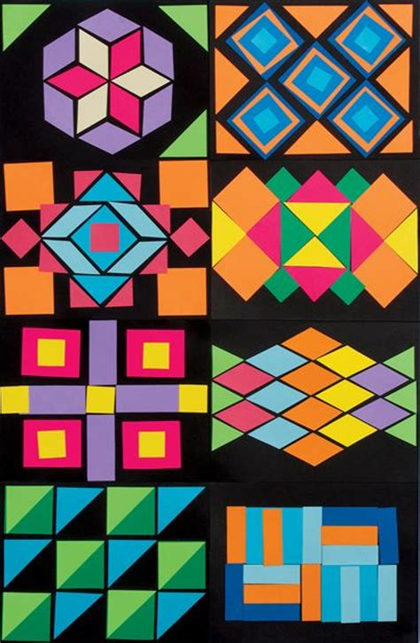 different patterns using geometric shapes 1058 best elementary art images on pinterest
