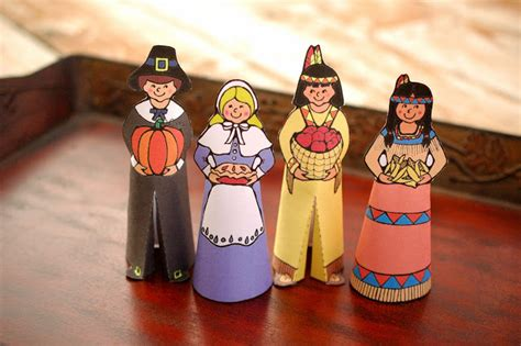 indian paper crafts serendipity hollow pilgrim and indian paper dolls