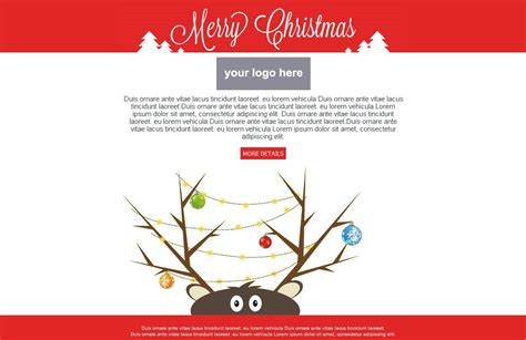 Christmas Email Template Free Download Best Template Idea Email Card Template