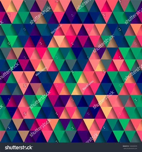 triangle pattern vector tutorial vector triangle pattern stock vector 146928335 shutterstock