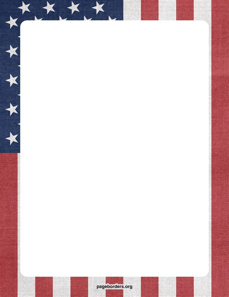 printable american flag a4 american flag page border cliparts co