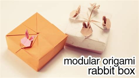Origami Rabbit Tutorial - modular origami rabbit box tutorial ideas inspirations
