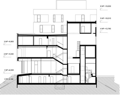 section of plan gallery of fabrika hotel ok plan architects 17