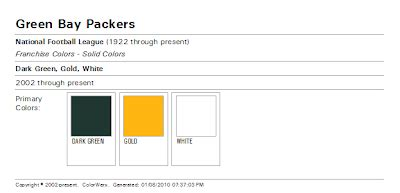 green bay packers colors the wearing of the green and gold the color match