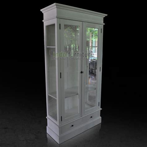 Lemari Kaca Untuk Pajangan lemari hias minimalis putih indofurniture