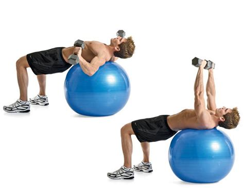 stability ball bench press 6 awesome chest exercises men s health