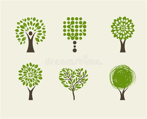 Collection Of Green Tree Logos And Icons Stock Vector Illustration Of Vector Green 54718185 Tree Logo Green Tree Ecology Illustration Symbol Icon Vector Design Stock Vector Image