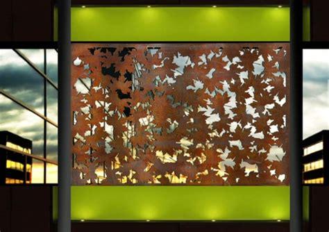 leaf pattern metal screen laser cut screens