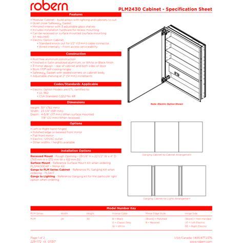 robern plm2430w robern plm2430w pl series white non handed medicine