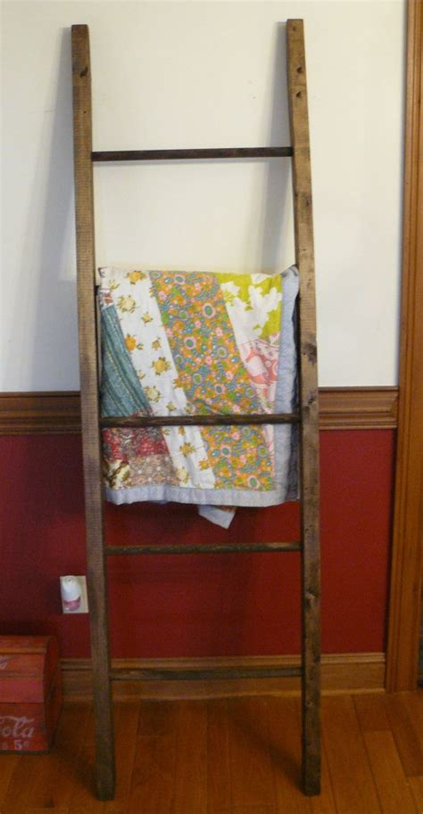 Handmade Quilt Rack by Handmade Ladder Quilt Rack