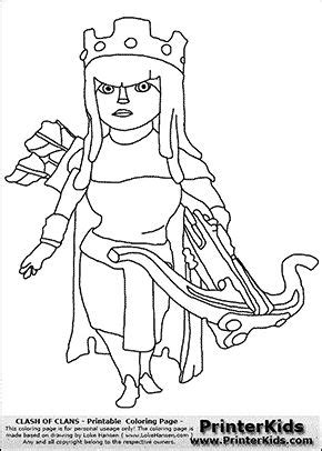 barbarian king coloring pages clash of clans archer queen coloring page coloring