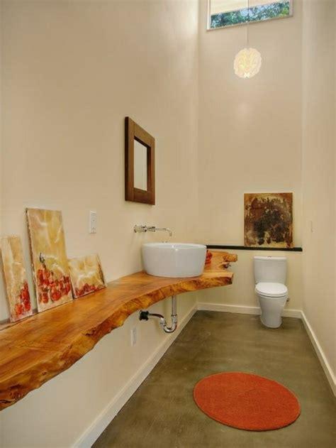 waschbecken mit holzplatte waschtisch aus holz f 252 r mehr gem 252 tlichkeit im bad
