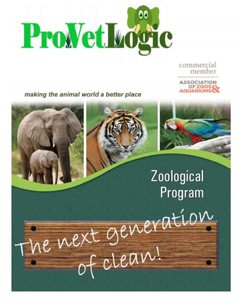 zoo brochure template zoological program provetlogic