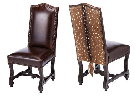 Western Dining Chairs Laramie Hide Side Chair Western Dining Chairs Free Shipping