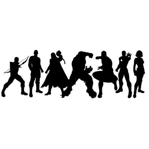 Marvel Superhero Wall Stickers black widow avengers silhouette www pixshark com