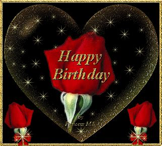 happy birthday heart  rose happy birthday myniceprofilecom