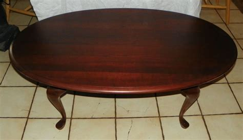 Oval Solid Cherry Coffee Table By Pennsylvania House Ct20 Oval Cherry Coffee Table