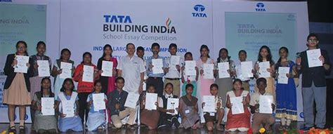 india competition 2015 city level winners of tata building india school essay