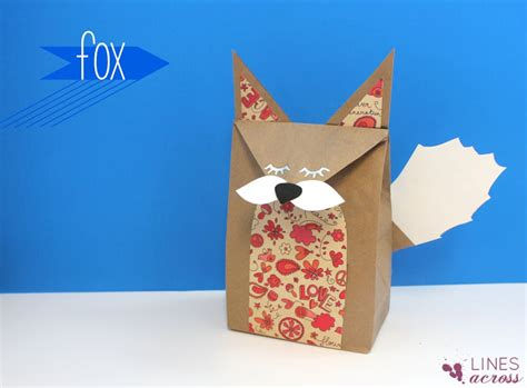 lines across woodland creature brown paper bags and a giveaway