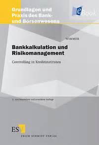 risikomanagement bank bankkalkulation und risikomanagement